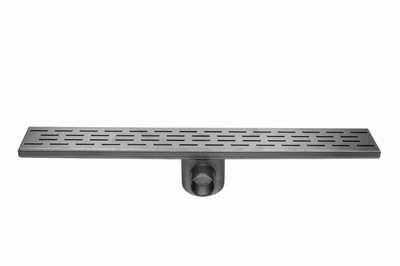 Easydrain Fixt 50 afvoergoot 9,8 x 120 cm. m/zijuitl. rvs EDFT120050