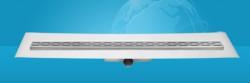 Easydrain Compact ff 50 afvoergoot 6x120 cm.zijuitlaat met afdichtingsdoek rvs EDCOMFF120050