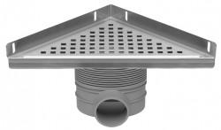 Easydrain Multi hoekdrain 24x24x35 met sifon rvs EDMDE
