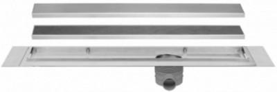 Easydrain Multi taf afvoergoot 70 cm.rooster als zero of tegel design rvs EDMTAF700