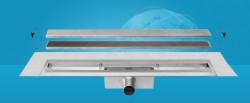 Easydrain Compact 30 taf wall afvoergoot 110 x 6 cm. zijaansluiting rvs EDCOMTAFW110030