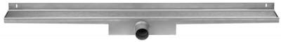 Easydrain Compact wall zero afvoergoot 100 x 6 cm. zijaansluiting rvs EDCOMWZ100030