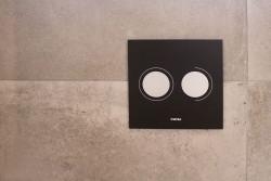 Wisa XS Luga bedieningsplaat tweeknops  zwart 8050419738
