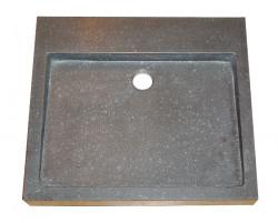 Blusani Basalt Stone wastafel 50 cm zonder kraangat BB302101
