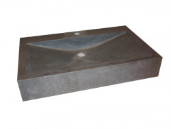 Blusani Basalt Stone wastafel 50 cm zonder kraangat BB302110