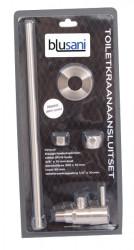 Blusani toiletkraan aansluitset RVS-look BT01102