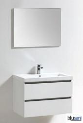 Blusani Orlando meubelset 80 cm. wastafel - spiegel wit hoogglans BR0108001