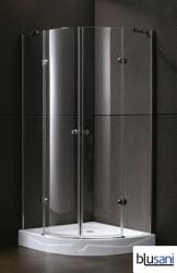 Blusani Push douchecabine 90x192cm 2 draaideuren helder glas BE106910