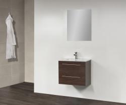 Stern Smallline Keramiek meubelset met grepen Oak 60cm 1 krg 2 laden spiegel 10643.20609.3886