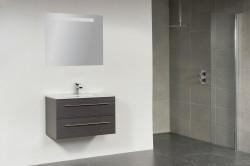 Stern Smallline Keramiek meubelset met grepen Hoogglans Wit 80cm 1 krg 2 laden spiegel 10651.2062.3887