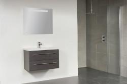Stern Smart Keramiek meubelset met grepen Oak 80cm 1 krg 2 laden spiegel 10653.2335.3887