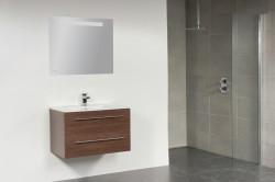 Stern Exclusive Empoli meubelset met grepen Black Wood 80cm 1 krg 2 laden spiegel 1408.2080.3887 1