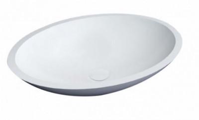 Solid S Loupi opzet ovale waskom 52x38cm mat wit BS301153