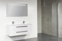 Stern Exclusive Line Pisa Keramiek meubelset met grepen Hoogglans Wit 120cm 2 krg 2 laden spiegel 1212.2122.3889
