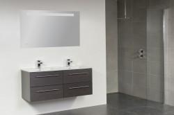 Stern Exclusive Line Empoli Keramiek meubelset met grepen Black Wood 120cm 2 krg 4 laden spiegel 1411.2098A.3889 1