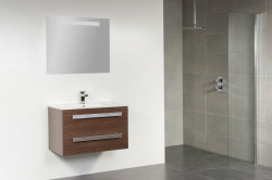 Stern Exclusive Line Pisa meubelset met grepen Hoogglans Wit 80cm 1 krg 2 laden spiegel 1208.2110.3887