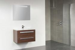 Stern Exclusive Line Pisa meubelset met grepen Black Wood 80cm 1 krg 2 laden spiegel 1408.2110.3887 1