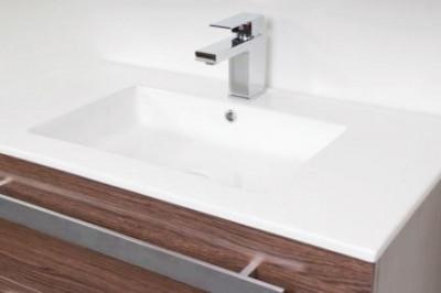 Stern Exclusive Line Pisa meubelset met grepen Black Wood 80cm 1 krg 2 laden spiegel 1408.2110.3887 3