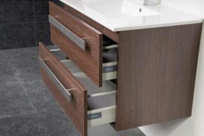Stern Exclusive Line Pisa meubelset met grepen Black Wood 80cm 1 krg 2 laden spiegel 1408.2110.3887 4