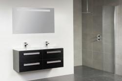 Stern Exclusive Line Pisa Keramiek meubelset met grepen Black Wood 120cm 2 krg 4 laden spiegel 1411.2122.3889 4