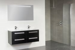 Stern Exclusive Line Pisa Keramiek meubelset met grepen Black Diamond 120cm 2 krg 4 laden spiegel 1611.2122.3889 4