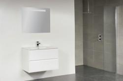 Stern New Future Keramiek meubelset greeploos High Gloss White 80cm 1 krg 2 laden spiegel 1208.2110.3887 1