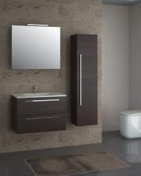Isani Akron meubelset met greep donker kastanje 75x46cm 1 krg 2 laden spiegel 60030102