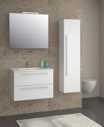 Isani Akron meubelset met greep hoogglans wit 60x46cm 1 krg 2 laden spiegel 60020101