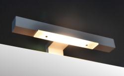 Isani Akron meubelset met greep hoogglans wit 60x46cm 1 krg 2 laden spiegel 60020101 spiegelverlichting
