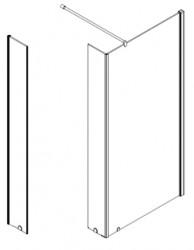 Stern Inloopdouche zijwand 30x200 cm zilver helder glas ST4004