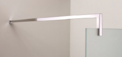 Stern Inloopdouche (verlengde) steun Square L-shape zilver ST40362