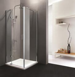 Stern Douchecabine 1 vaste wand 90x90 cm zilver helder glas ST4040