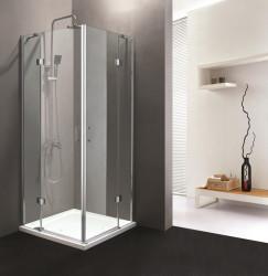Stern Douchecabine Hoekinstap met 2 deuren 90x90 cm zilver helder glas ST4045