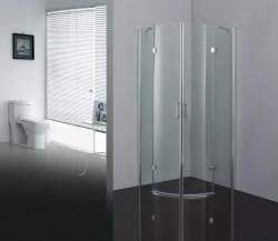 Stern Douchecabine 1/4 rond met 2 openslaande deuren 100x100 cm zilver helder glas ST4015