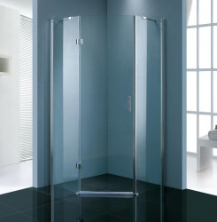 Stern Douchecabine vijfhoek 1 deur 90x90 cm zilver helder glas ST4020