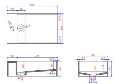 Solid-S Wall wastafel rechthoek mat wit B50xD30xH15cm met kraangat 1207917172