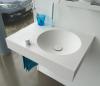 Solid-S Wall Special wastafel met handdoekrek rechthoek mat wit B60xD45xH10cm zonder waste SOLS40103