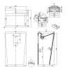 Solid-S vrijstaande wastafel mat wit B55xD44XH83cm 1208493562