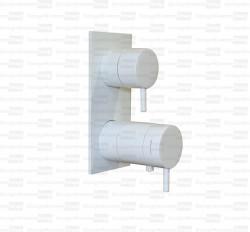 Waterevolution Flow inbouw douchethermostaat met 3 uitgangen mat wit T136TBBR