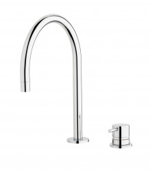 Waterevolution Flow 2-gats wastafelmengkraan chroom T112U01
