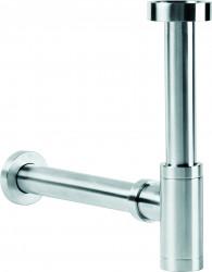 Clou  designsifon rvs geborsteld speciaal voor fonteintjes met ø40mm adapter voor wandaansluiting PhotoFreestanding