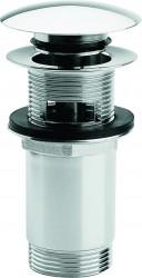 Clou InBe stop/go afvoerplug voor wastafels met overloopgat rond chroom PhotoFreestanding