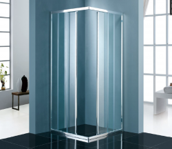 Stern Schuifcabine Hoekinstap 80x80 cm zilver helder glas ST4280