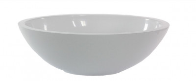 Solid-S Small opbouwwastafel ovaal mat wit B50xD35xH16cm zonder overloop SOL906081