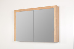 Stern Wood spiegelkast Grey Oak 100cm met verlichting led 2 deuren SW70481