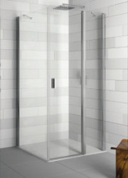 Riho Fjord Douchecabine deur rechts 90x100x200 cm zilver helder glas GF1145802
