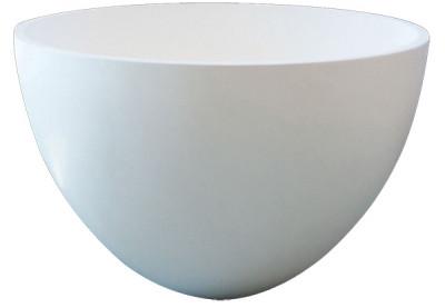 Solid-S opbouwwastafel kom mat wit D42xH26cm zonder waste