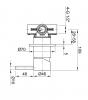 Rubio Inox inbouw mengkraan met omsteller RVS 1208758572