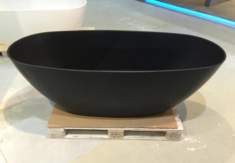 Half Vrijstaand Bad Zwart.Solid S Saint Tropez Vrijstaand Bad 180x80 Solid Surface Mat