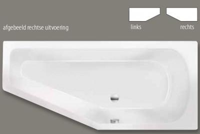 Beterbad Lagoon Compact combinatievorm rechts ligbad acryl 170x75cm mat cement grijs 6983-06